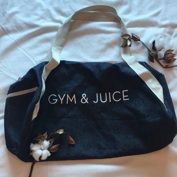"Handbags - ""Gym & Juice"" duffel bag"